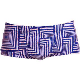 Funky Trunks Classic Costume a pantaloncino Uomo blu/bianco